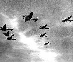 Атака бомбардировщиков Вермахта